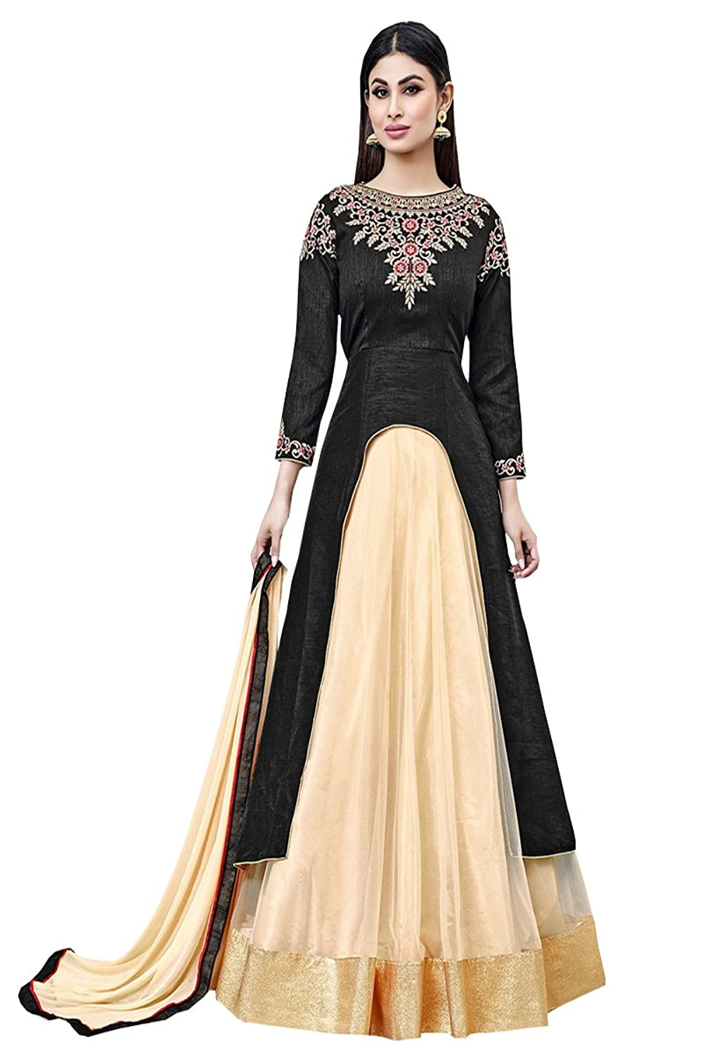 Salwar suits (Women's Georgette Semi Stitched Salwar Suit )