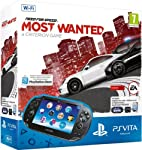 KONSOLE PSVITA WIFI CRYSTAL BLACK + VOUCHER NEED FOR SPEED MOST WANTED + MEMORY 4GB