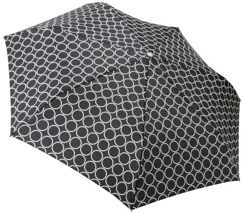 Totes Ladies Signature Auto Open Auto Close Compact Umbrella, Metro Dot, One Size