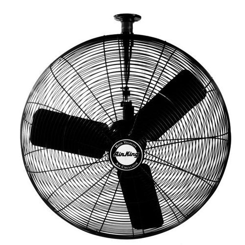 B00155ZM3E Air King 9325 24-Inch 3-Speed Industrial Grade Oscillating Ceiling Mount Fan, 1/4-Horsepower, Black Finish