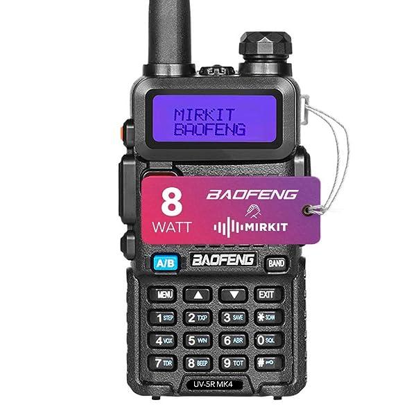 BAOFENG UV-5R 8 W RADIO DE DOS VÍAS WALKIE TALKIE