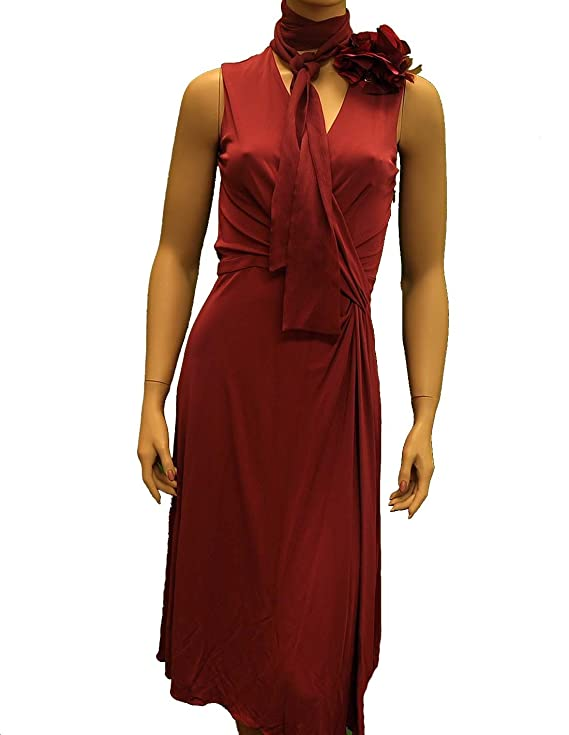 Gucci Red Purple Viscose Knee Length Dress