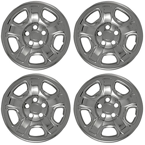 OxGord-Wheel-Skins-For-Jeep-Liberty-2002-2007-Set-of-4-Pack-Auto-WheelRim-Covers-Aftermarket-Factory-Replacement-with-High-Quality-ABS-Chrome-Plastic-Fits-16-Inch-Car-Tire-Rims