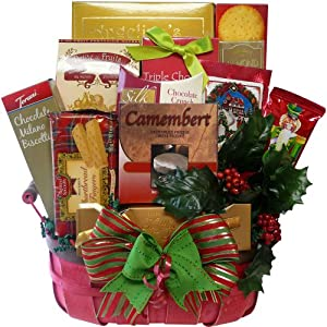 Art of Appreciation Gift Baskets   Festive Favorites Christmas Holiday Basket