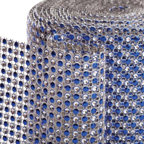 Koyal 2-Tone Diamond Rhinestone Ribbon Wrap, Royal Blue front-1039199