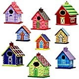Set of 9 Home Sweet Home Indian Paper Mache Diwali Ornaments