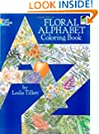 Floral Alphabet Coloring Book