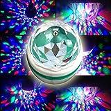 Fuloon 音感センサーで自動的な回転できる!E27 3W多彩なRGB LED ステージライト電球 バー、ディスコ、ボールルーム、KTV、家の装飾、ステージ、クラブ、パーティーなどに!