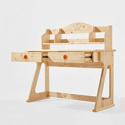 Anjcd Tous les modèles en bois massif en bois massif pour ordinateur La table de table La table a une cicatrice arborescente 107 * 114 * 53cm