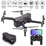 MOSTOP SJRC F11 GPS Drone 5G WiFi FPV RC Quadcopter Drone Foldable 1080P Camera Record Video App Control iOS Android One-Key RTH Follow Me 3D Visual Brushless Motor Track Flight Headless (Black) (Color: Black)