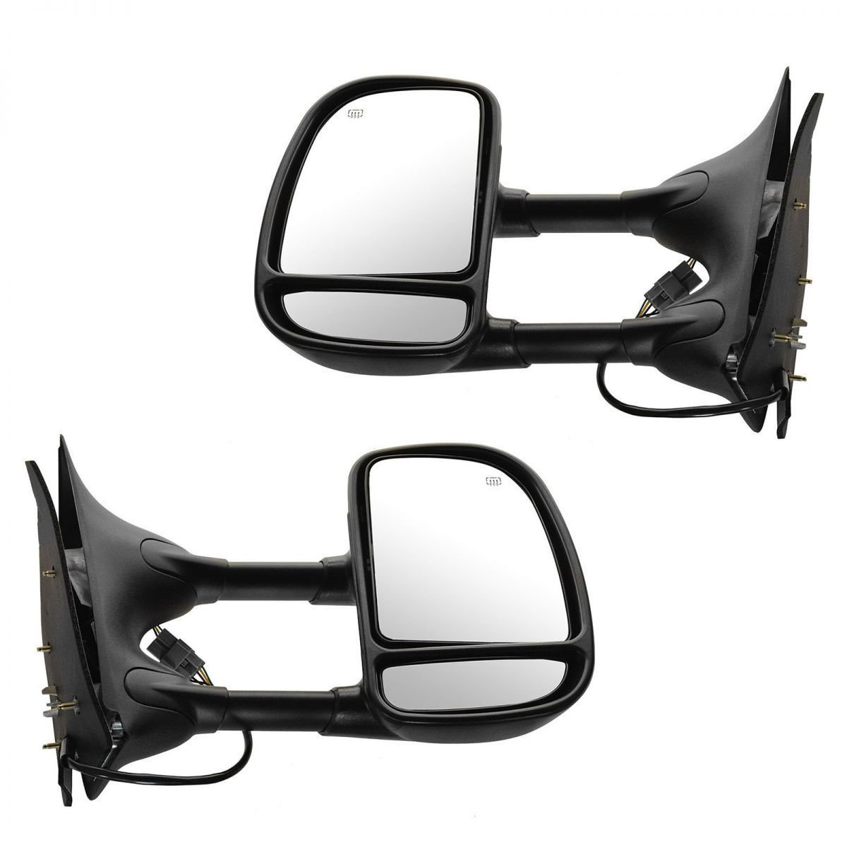 цена на Power Heated Towing Side View Mirror Left Right Pair Set for Ford Excursion F250 F350 F450 F550 Super Duty Truck
