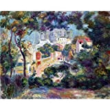 Art Panel - Landscape With A View Of The Sacred Heart By Renoir