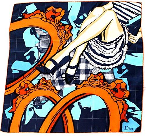 dior-seidentuch-blau-orange-frauenbeine-scarve-nickytuch