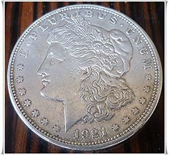 1921-D U.S. Morgan Silver Dollar Coin - 90% Silver