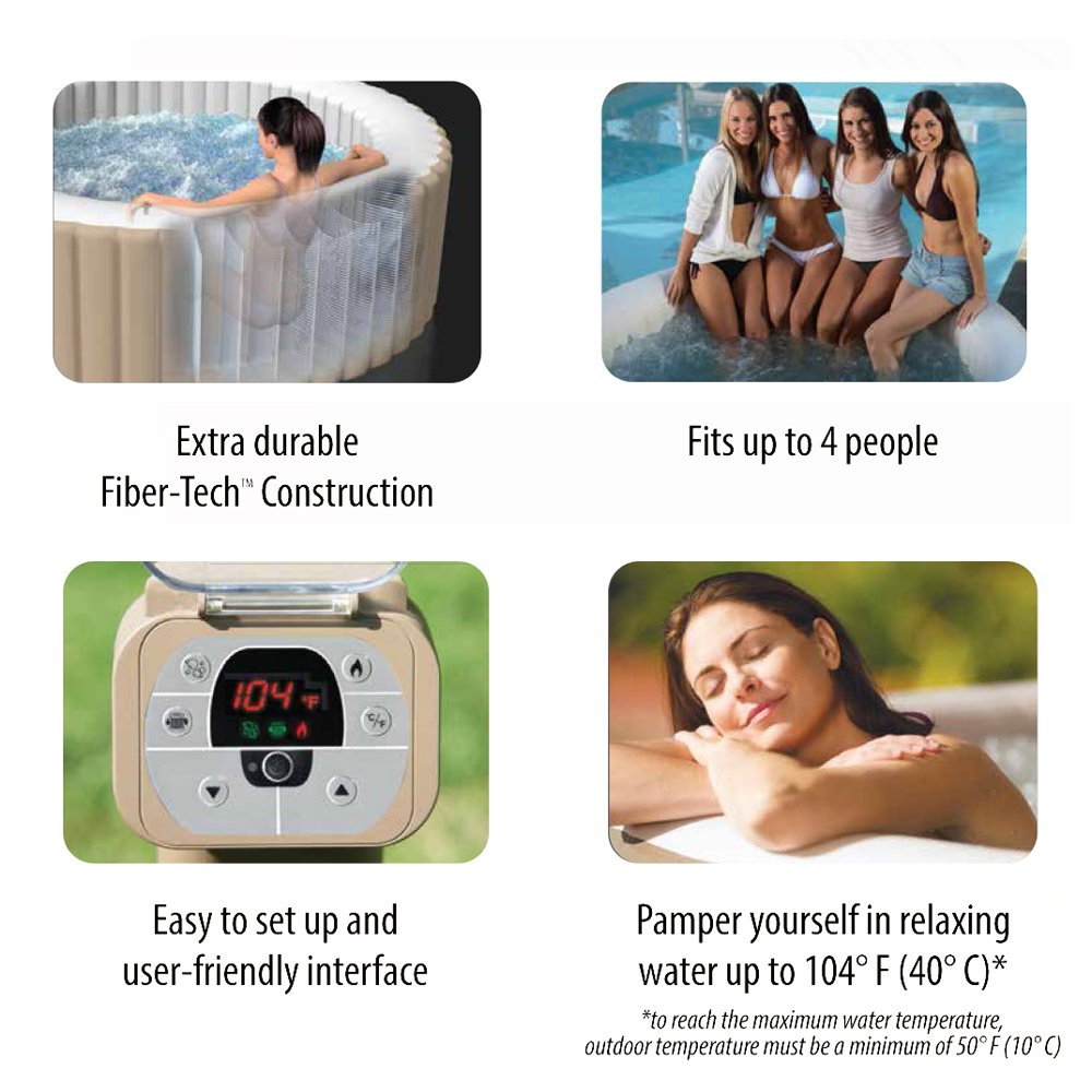Intex 77in PureSpa Portable Bubble Massage Spa Set