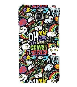 99Sublimation Oh My God 3D Hard Polycarbonate Designer Back Case Cover for Samsung Phones