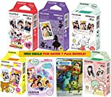 Fujifilm Instax Mini Fuji Instant Film 7 Pack BUNDLE, Mickey, Pooh, Monster, Alice, Rillakuma, Little Twin Stars, Fairies : 10 sheets of Each for 70 Sheets of Pictures! BONUS-FREE Wiki Deals Colorful Micro Fiber Cloth!