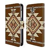 Head Case Braun Neo Navajo Brieftasche Handyhülle aus
