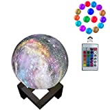 3D Moon Light Lamp, 16 Colors 3D Galaxy Moon Lamp with Stand, USB Charging, Remote & Touch Control Room Décor for Birthday Party Kids Baby Gifts (Tamaño: 6 inch)