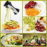 Gusteaux Quadghetti Spiralizer - High Quality Spiral Slicer Bundle with 4 Removable Blades