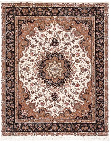 Safavieh Tabriz Floral Collection Tf24B Hand Knotted Multicolor Wool Area Rug, 8-Feet By 10-Feet front-165593