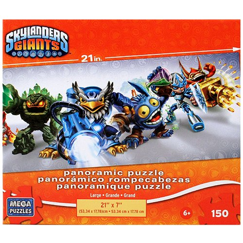 Skylanders Giants 150 piece 7 Character Panorama Puzzle - 1