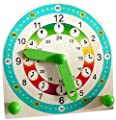 Hess Wooden Toddler Stand Children Toy Clock by Hess