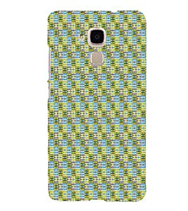 Square Pattern 3D Hard Polycarbonate Designer Back Case Cover for Huawei Honor 5C : Huawei Honor 7 Lite : Huawei GT3