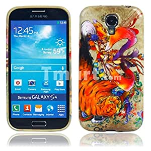 TPU Glitter Protective Case with Tiger Pattern for Samsung S4 i9500