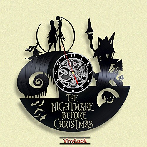 The Nightmare before Christmas Jack and Sally Vinyl Record Wall Clock. Decor for your kids room. Gift for baby. Leave a feedback for (Can Can Sally Child Costume)