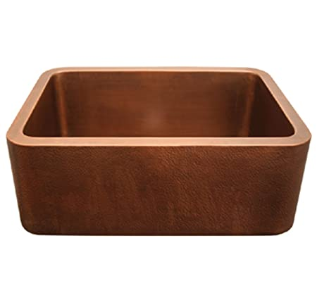 Whitehaus WH2519COFC-SCO Haus 25-Inch Rectangular Undermount Sink with Smooth Front Apron, Smooth Copper