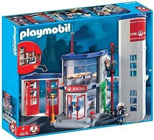 PLAYMOBIL Fire Station Construction Set