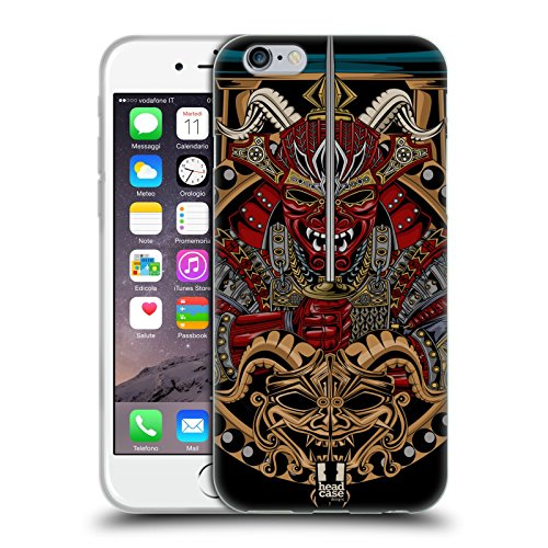 Head Case Designs Shogun Maschera Di Diavolo Giapponese Cover Morbida In Gel Per Apple iPhone 6 / 6s