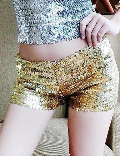 ZY Pantaloni/Pantaloncini da donna oro/argento, Sexy, gold-one-size