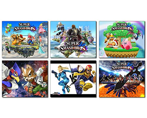 Super Smash Bros Photos - Set of 6 Mini Poster Wall Art Photos (Smash Brothers Poster compare prices)
