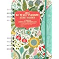 Orange Circle Studio 17-Month 2015 Do It All Planner with Stickers, Secret Garden (31532)