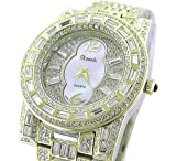 *WOW* Ladies / Men 18K GOLD Plated BLING Watch Made with SWAROVSKI Elements