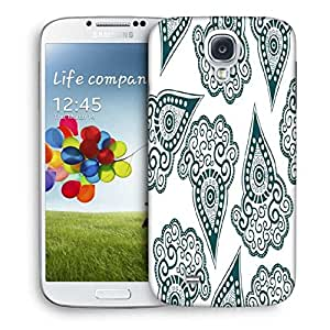Snoogg Green Pattern Printed Protective Phone Back Case Cover For Samsung S4 / S IIII