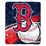 "MLB Boston Red Sox 50-Inch-by-60-Inch Sherpa on Sherpa Throw Blanket ""Big Stick"" Design at Amazon.com"