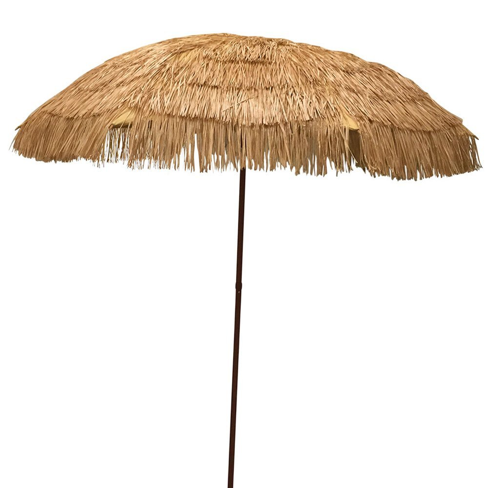 EasyGo - 6.5' Thatch Patio Umbrella - Tropical Palapa Tiki ...