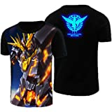 Gumstyle Mobile Suit Gundam Anime Luminous T Shirt Adult Cosplay Short Sleeve Tee 3-L (Color: 03, Tamaño: Large)