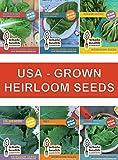 Heirloom Non GMO Vegetable Seeds with High Germination + Online Gardening Class & Bonus 25oz Smoothie Jar. Plant Fresh USA Grown Seeds for Your Organic Kitchen Garden. 100% Satisfaction Guaranteed!