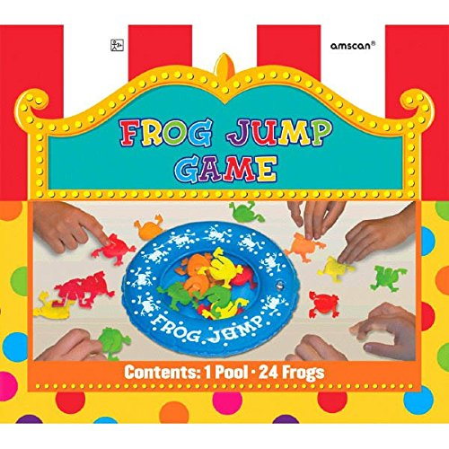 "Amscan Super Fun Frog Jump Birthday Party Game, 8.1 x 9"", Multicolored - 1"