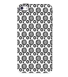 PrintVisa Corporate Print & Pattern Flower 3D Hard Polycarbonate Designer Back Case Cover for Apple iPhone 4 :: 4S