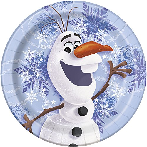 Disney Frozen Olaf 6 3/4 Inch Plates [8 Per Pack] - 1