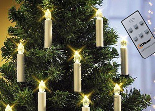 Battery Powered Remote Control LED Christmas Tree Taper Candles