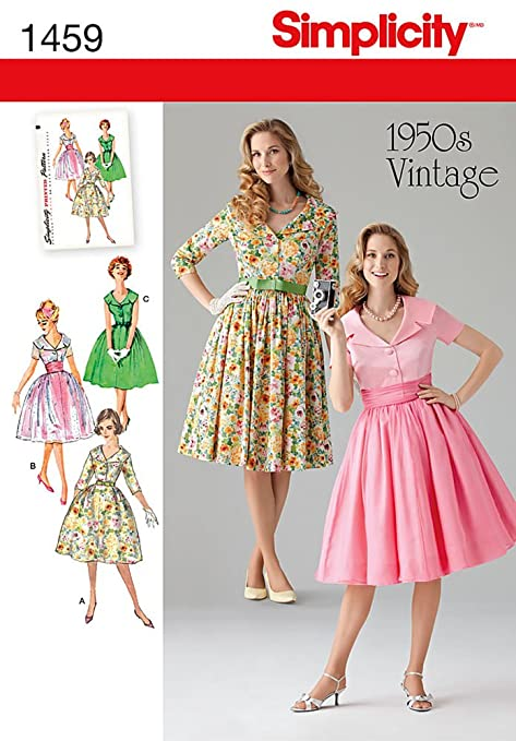 1950s Day Dresses  1950s Vintage Dress U5 (16-18-20-22-24)                               $8.99 AT vintagedancer.com