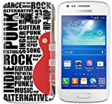 Samsung Galaxy Ace 3 (S7270 / S7272 / S7275) Hard Plastic (PC) Case - White Cover with Red and Black Guitar Design