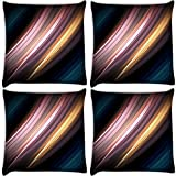 Snoogg Motion Senses Pack Of 4 Digitally Printed Cushion Cover Pillows 12 X 12 Inch