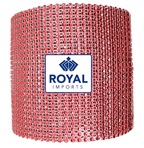 Diamond Rhinestone Bling Ribbon Roll by Royal Imports® - Wedding Cake Decoration and Floral Arrangements - 30 Feet/10 Yard (x 4.5